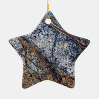 Marble effect design christmas ornament