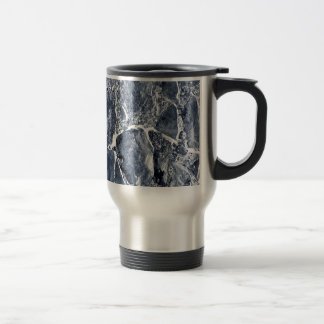 Marble effect travel mug