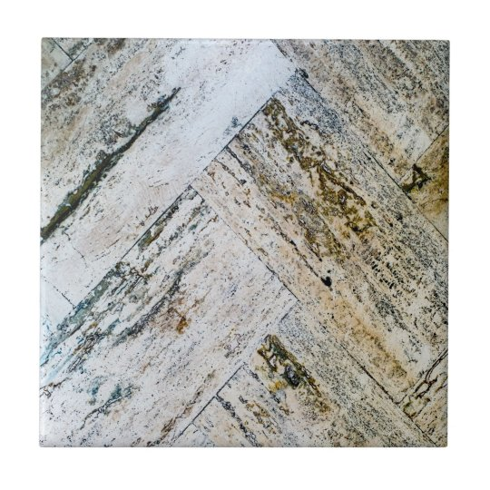 Marble Floor Chevrons Small Square Tile