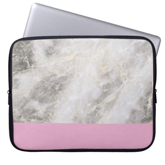 Marble Girly Minimal w/ Pink Colour Block Laptop