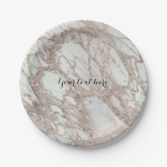 Marble Glam Rose Pink Gold Silver Designer Style
