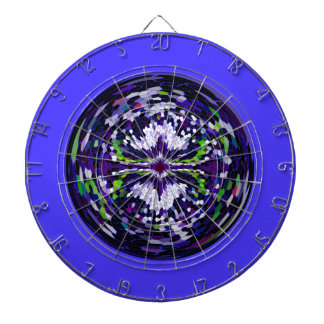 Marble globe on a dark blue background dartboard