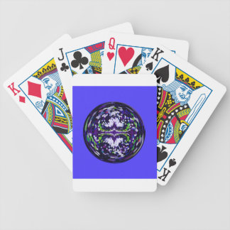Marble globe on a dark blue background poker deck
