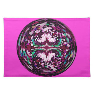 Marble Globe on Magenta background. Placemat