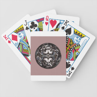 Marble globe on pink bicycle playing cards