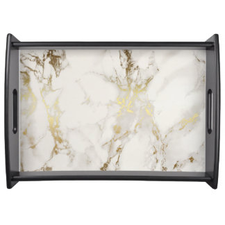 MARBLE GOLD AND WHITE TRAY
