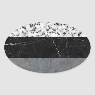 Marble, Granite, and Concrete Abstract Oval Sticker