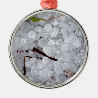 Marble Hail and Debris Christmas Ornament