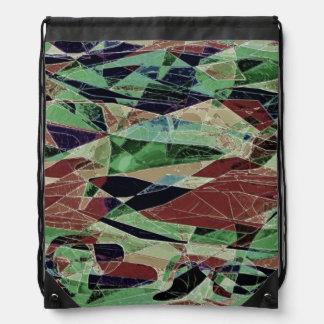 Marble Illusion Drawstring Backpack