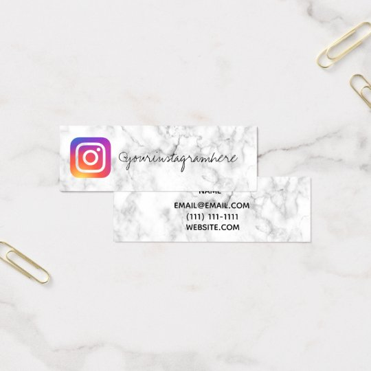 marble instagram social media business card