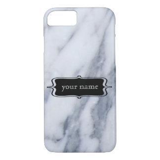 Marble iPhone Case Custom Name
