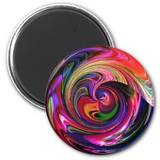 Marble-ized 6 Cm Round Magnet