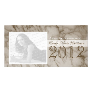 Marble Look Graduation Announcement Card