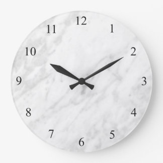 Marble Look Large Clock