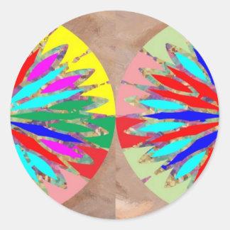 Marble Marvellous Diamond Patterns Round Sticker