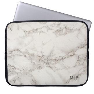Marble Monogram Computer Sleeve