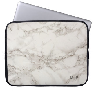Marble Monogram Laptop Sleeve