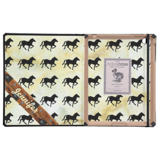 Marble Monogrammed tiled horse iPad Folio Cover