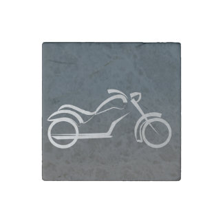 Marble Motorcycle Magnet Stone Magnet