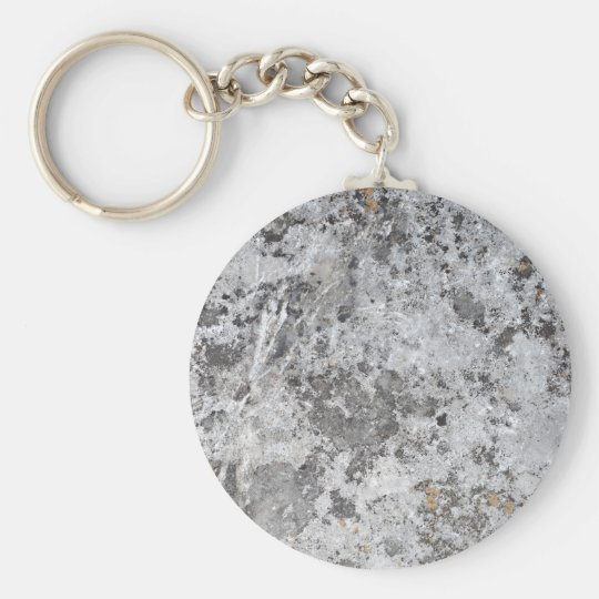Marble mould texture basic round button key ring