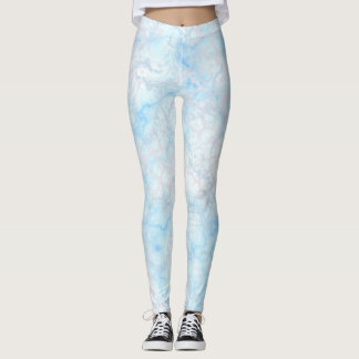 Marble multi leggings blue & pink