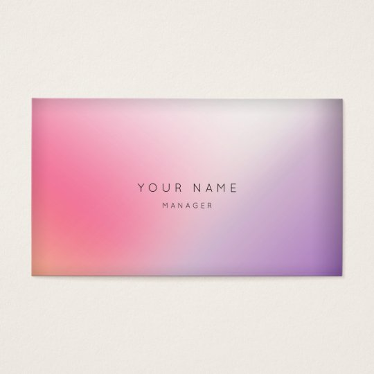 Marble Ombre Purple Pink Minimal Manager Vip Business