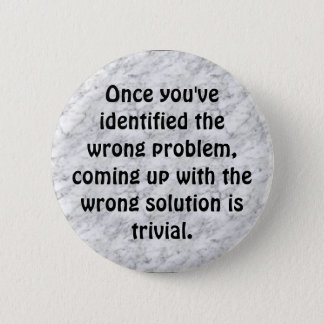 marble, Once you've identified the... - Customized 6 Cm Round Badge