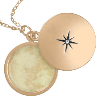 Marble or Granite Textured Round Locket Necklace