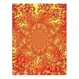 Marble Patch Kaleidoscoped Digital Art Postcard