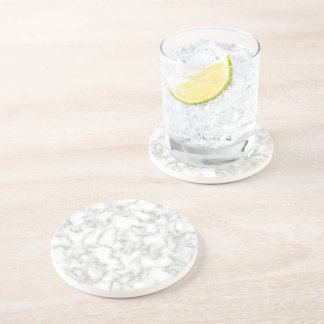 Marble Pattern Gray White Marbled Stone Background Drink Coaster
