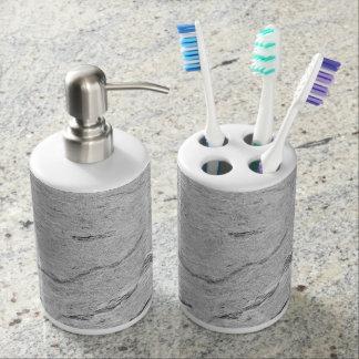 Marble Pattern Holder and Soap Dispenser
