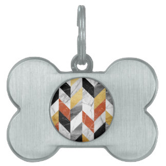 Marble pattern pet tag