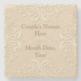 Marble Personalized Wedding Coasters Stone Coaster