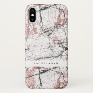 Marble Phone Case With A RoseGold Touch