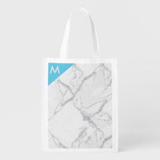 Marble print reuseable bag