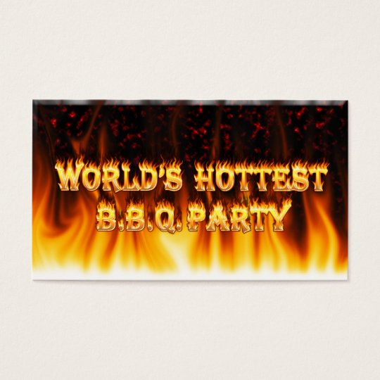 Marble Red World's Hottest BBQ Party Business Card