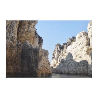 Marble rocks canvas print