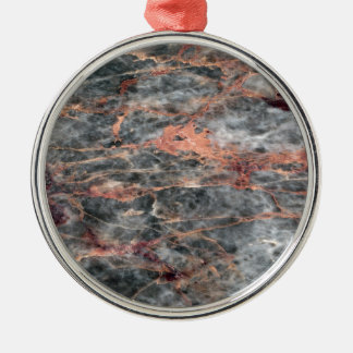Marble Silver-Colored Round Decoration