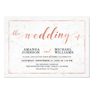 Marble | Simple Modern Typography Wedding Ceremony Card