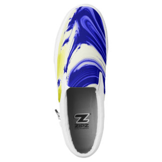 Marble splash color swirls zipz Slip-On shoes