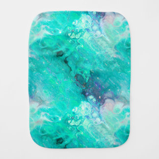 MARBLE STARRY NEBULA SKY AQUA BURP CLOTH