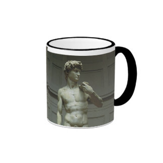 Marble Statue of David by Michelangelo Ringer Coffee Mug