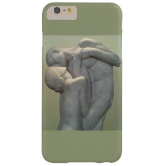 Marble statue of man and woman embracing barely there iPhone 6 plus case