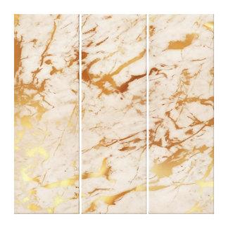 Marble Stone Abstract Creamy Carrara Gold Luxury Canvas Print