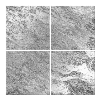 Marble Stone Abstract Gray Silver Metallic Luxury Canvas Print