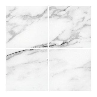 Marble Stone Abstract Gray Silver White Carrara Canvas Print