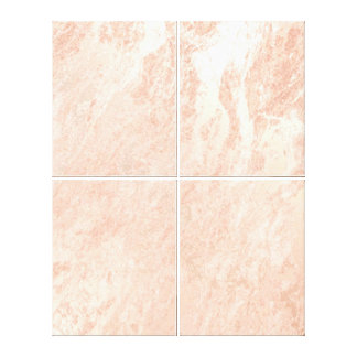 Marble Stone Abstract Monochrom Coral Gold Luxury Canvas Print