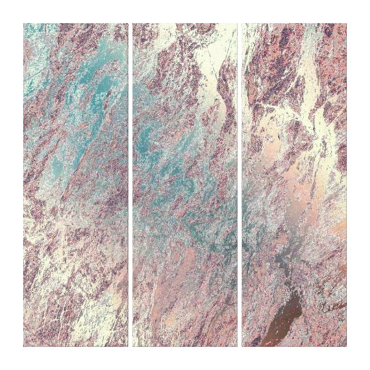 Marble Stone Abstract Teal Aqua Rose Gold Dream