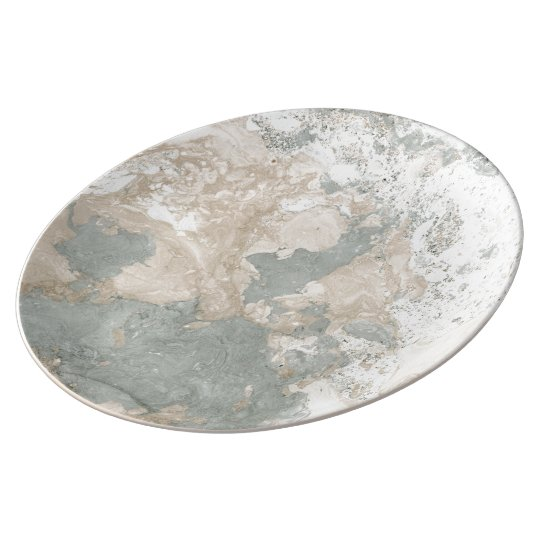 Marble Stone Abstract White Beige Ivory Deep Gray