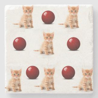 Marble Stone Coaster Kitten